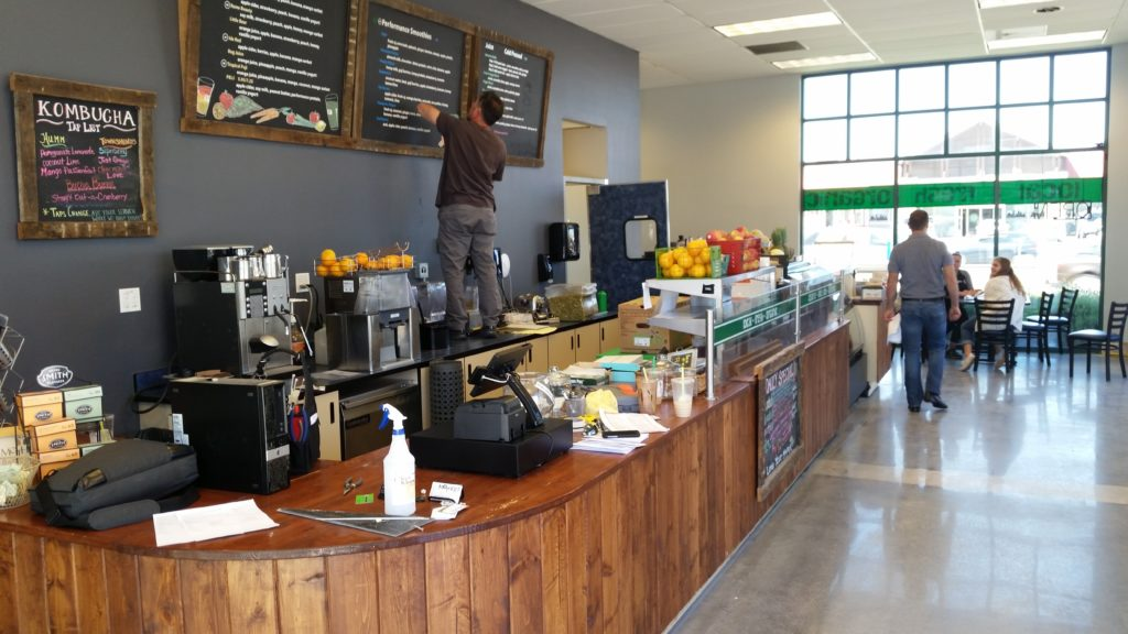 Cloud point of sale at the newly remodeled Mother's Eastside location